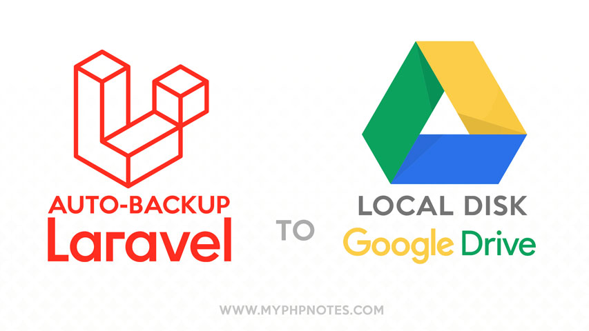 Auto-Backup Laravel App (with DBs) to Google Drive and Local image