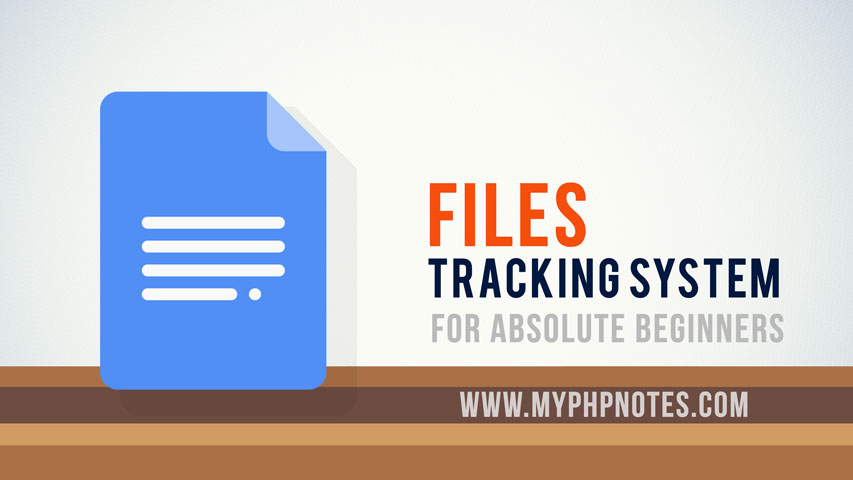 Basic File Tracking System in PHP image