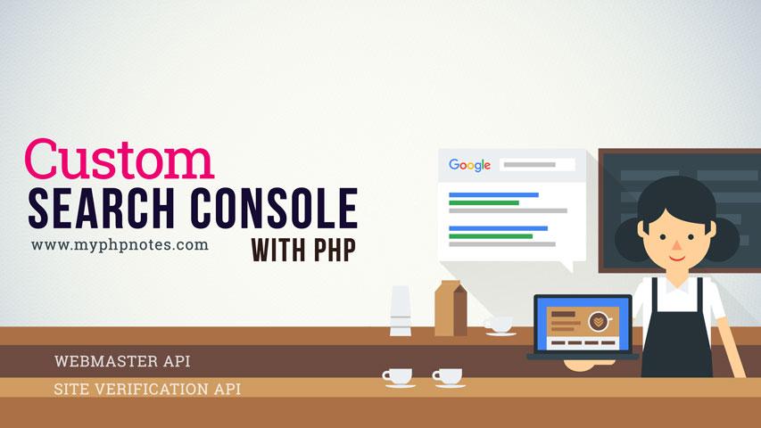 Custom Google Webmaster Tools with Site Verification API image