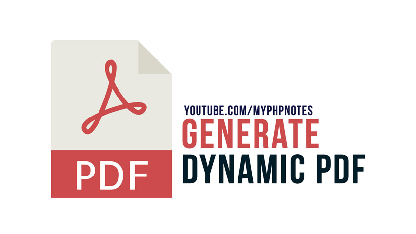 Generate Dynamic PDF in PHP image