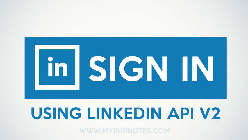 Sign In with LinkedIn Integration using LinkedIn API V2 image