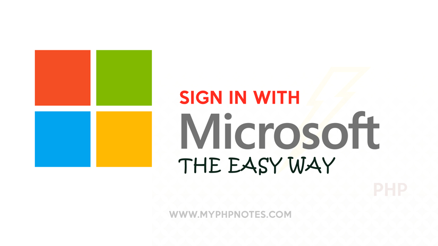 Sign in with Microsoft Account with PHP image