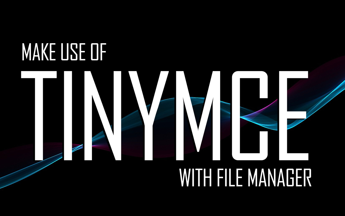 TinyMCE Integration with Responsive File Manager image